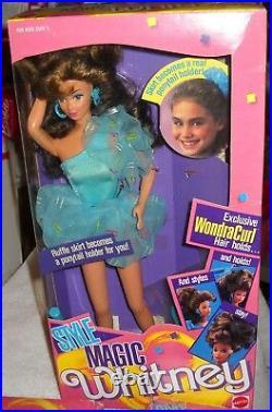 #9623 NRFB Vintage Mattel Style Magic Barbie, Whitney, Christie & Hair Charms