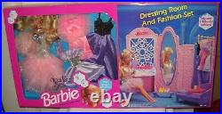 #9921 NRFB Mattel Wholesale Club Sparkle Eyes Barbie Dressing Room & Fashion Set