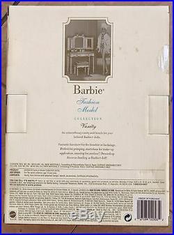 New Barbie BFMC Gold Label Silkstone Fashion Model Vanity And Bench B3436 NRFB