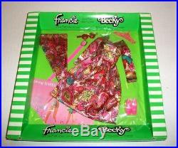 Vintage Barbie MOD Francie Becky doll NRFB #3446 Midi Bouquet fashion RARE 1970